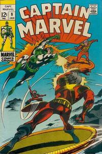 Cover Thumbnail for Captain Marvel (Marvel, 1968 series) #9