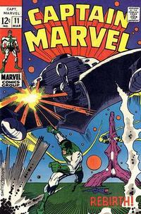 Cover for Captain Marvel (Marvel, 1968 series) #11