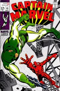Cover Thumbnail for Captain Marvel (Marvel, 1968 series) #13