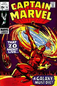 Cover for Captain Marvel (Marvel, 1968 series) #15 [Regular Edition]