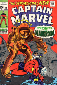 Cover for Captain Marvel (Marvel, 1968 series) #18