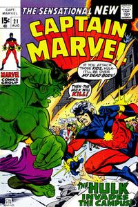 Cover Thumbnail for Captain Marvel (Marvel, 1968 series) #21