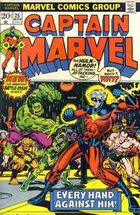 Cover Thumbnail for Captain Marvel (Marvel, 1968 series) #25 [Regular Edition]