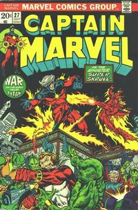 Cover for Captain Marvel (Marvel, 1968 series) #27 [Regular Edition]