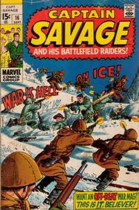 Cover Thumbnail for Capt. Savage and His Leatherneck Raiders (Marvel, 1968 series) #16
