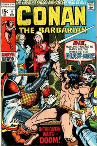 Cover for Conan the Barbarian (Marvel, 1970 series) #2