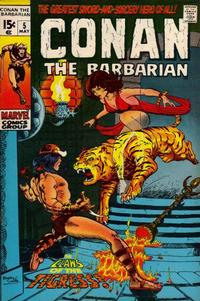 Cover Thumbnail for Conan the Barbarian (Marvel, 1970 series) #5
