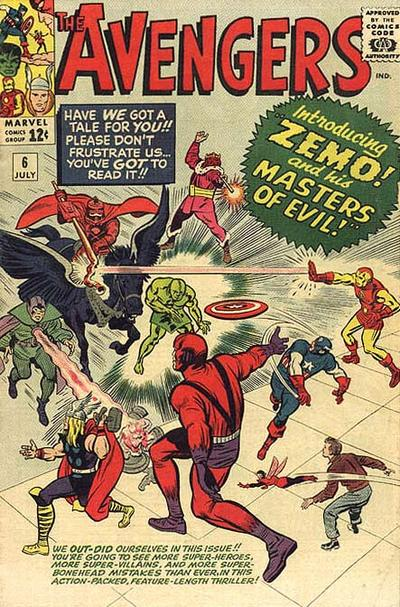 Cover for The Avengers (Marvel, 1963 series) #6