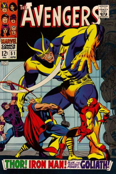 Cover for The Avengers (Marvel, 1963 series) #51