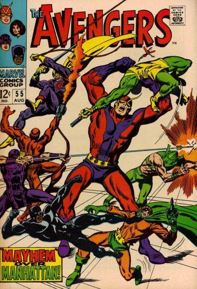 Cover for The Avengers (Marvel, 1963 series) #55