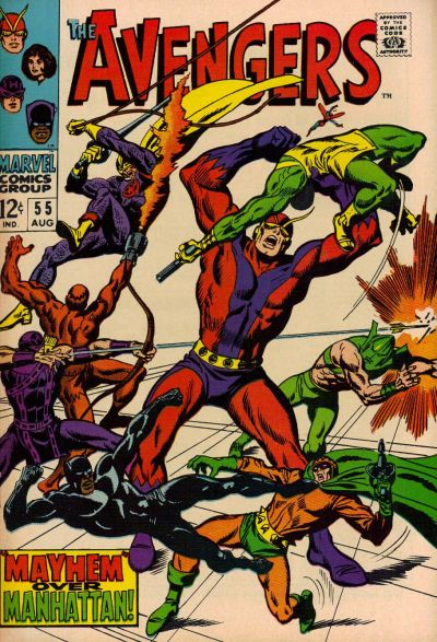 Cover for The Avengers (Marvel, 1963 series) #55