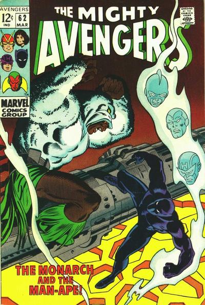 Cover for The Avengers (Marvel, 1963 series) #62