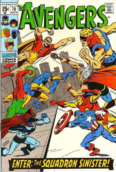 Cover for The Avengers (Marvel, 1963 series) #70 [Regular Edition]