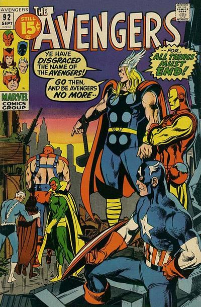 Cover for The Avengers (Marvel, 1963 series) #92 [Regular Edition]