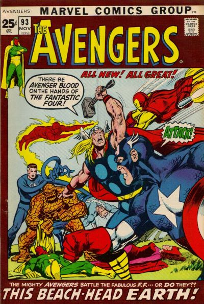 Cover for The Avengers (Marvel, 1963 series) #93 [Regular Edition]