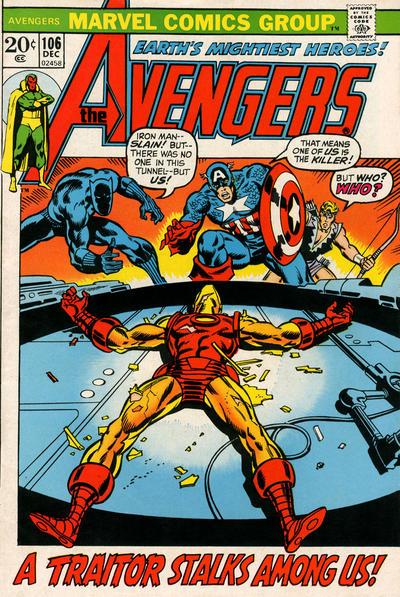 Cover for The Avengers (Marvel, 1963 series) #106 [Regular Edition]