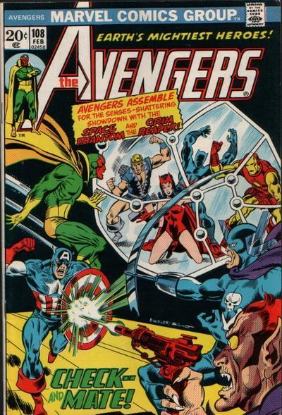 Cover for The Avengers (Marvel, 1963 series) #108