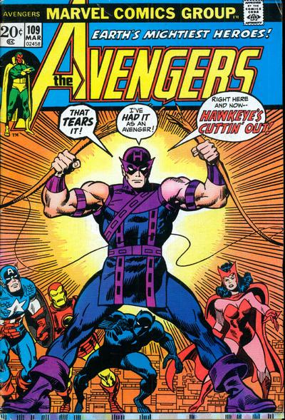 Cover for The Avengers (Marvel, 1963 series) #109 [Regular Edition]