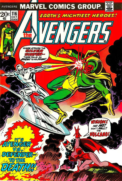 Cover for The Avengers (Marvel, 1963 series) #116 [British]