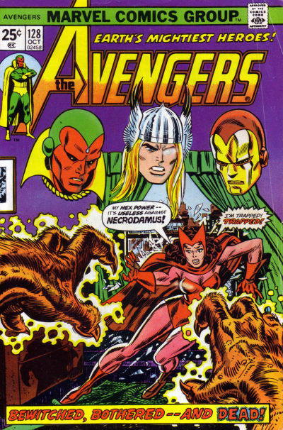 Cover for The Avengers (Marvel, 1963 series) #128