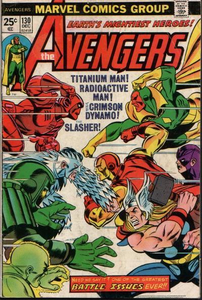 Cover for The Avengers (Marvel, 1963 series) #130