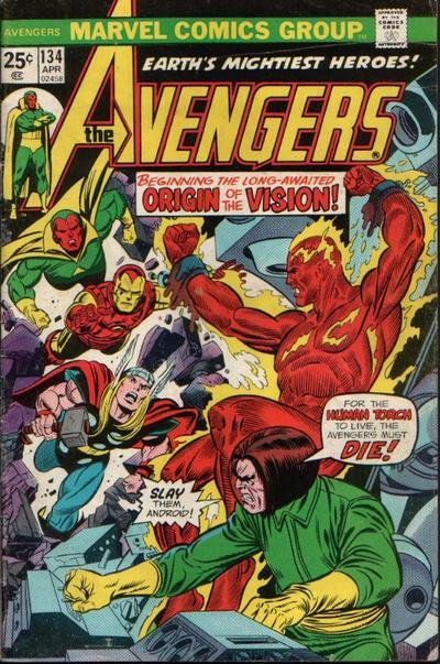 Cover for The Avengers (Marvel, 1963 series) #134