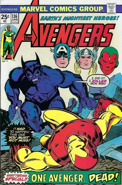Cover for The Avengers (Marvel, 1963 series) #136