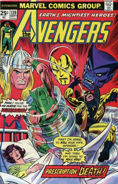 Cover for The Avengers (Marvel, 1963 series) #139