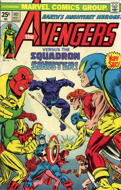 Cover for The Avengers (Marvel, 1963 series) #141