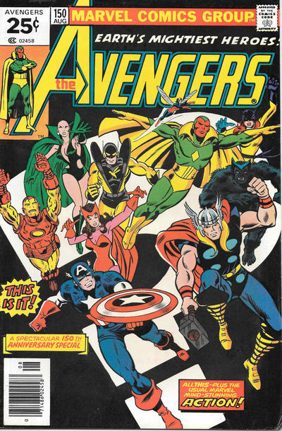 Cover for The Avengers (Marvel, 1963 series) #150 [30¢ Price Variant]