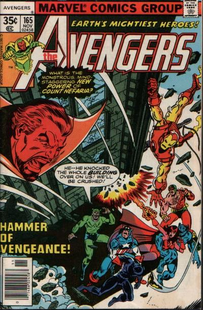 Cover for The Avengers (Marvel, 1963 series) #165 [Regular Edition]