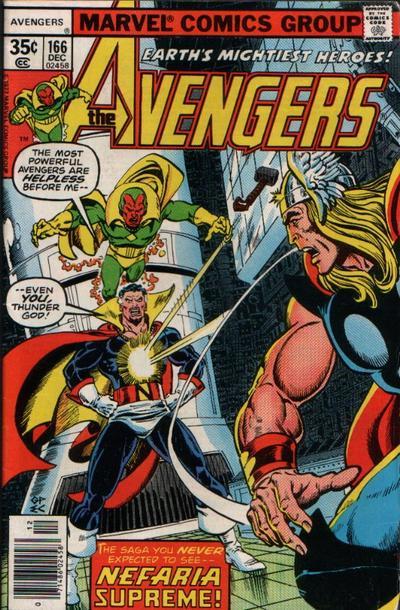 Cover for The Avengers (Marvel, 1963 series) #166 [Regular Edition]