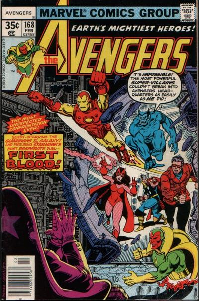Cover for The Avengers (Marvel, 1963 series) #168 [British]