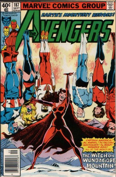 Cover for The Avengers (Marvel, 1963 series) #187 [Direct Edition]