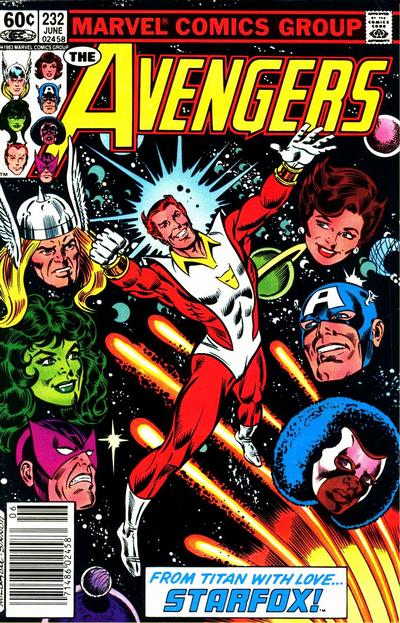 Cover for The Avengers (Marvel, 1963 series) #232 [Direct Edition]