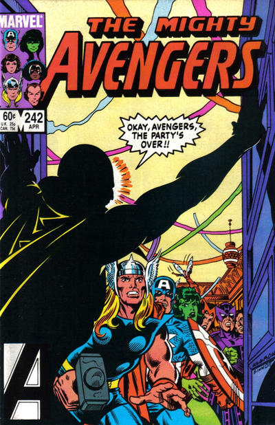 Cover for The Avengers (Marvel, 1963 series) #242 [Newsstand Edition]