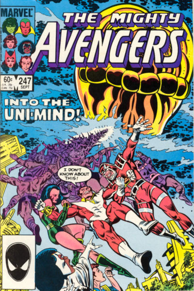 Cover for The Avengers (Marvel, 1963 series) #247 [Direct Edition]