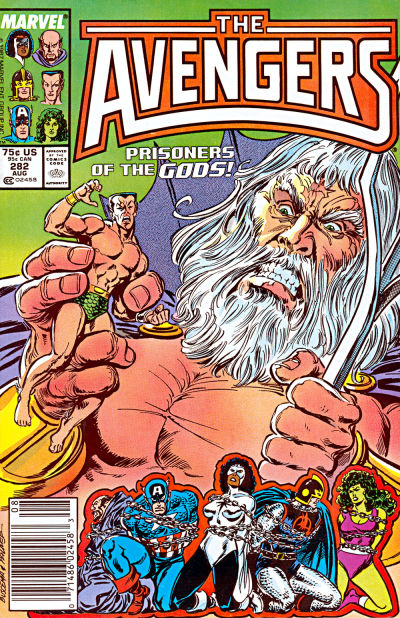 Cover for The Avengers (Marvel, 1963 series) #282 [Direct Edition]