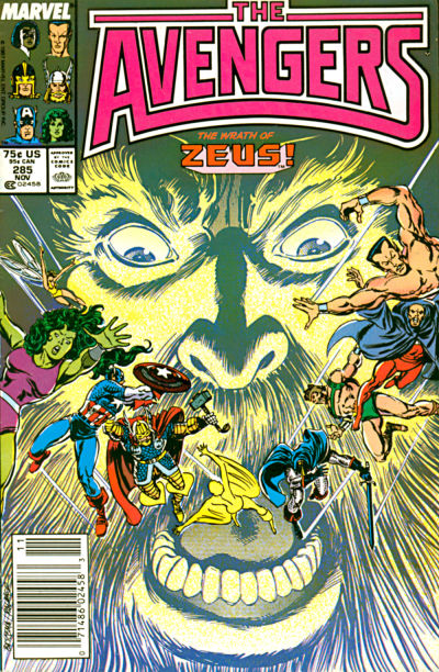 Cover for The Avengers (Marvel, 1963 series) #285 [Direct Edition]