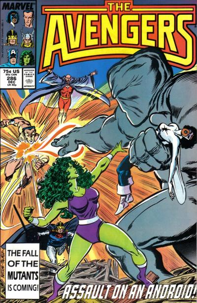 Cover for The Avengers (Marvel, 1963 series) #286 [Direct Edition]