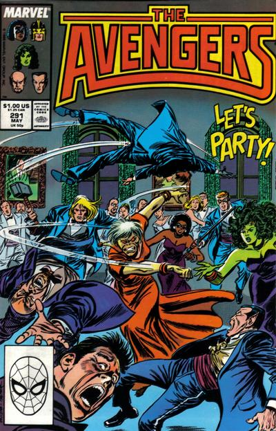 Cover for The Avengers (Marvel, 1963 series) #291 [Direct Edition]