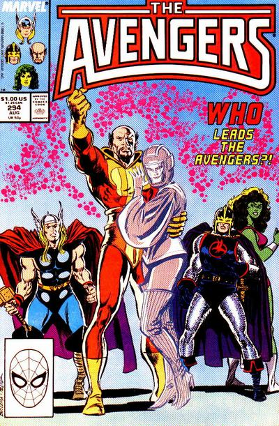 Cover for The Avengers (Marvel, 1963 series) #294 [Direct Edition]