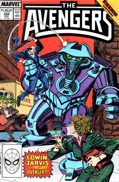 Cover for The Avengers (Marvel, 1963 series) #298 [Direct Edition]