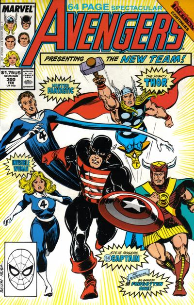 Cover for The Avengers (Marvel, 1963 series) #300 [Direct Edition]