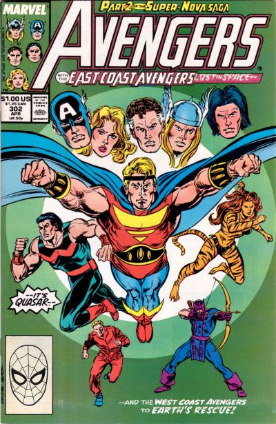 Cover for The Avengers (Marvel, 1963 series) #302 [Direct Edition]