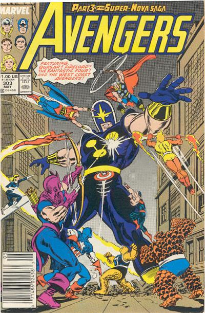 Cover for The Avengers (Marvel, 1963 series) #303 [Direct Edition]