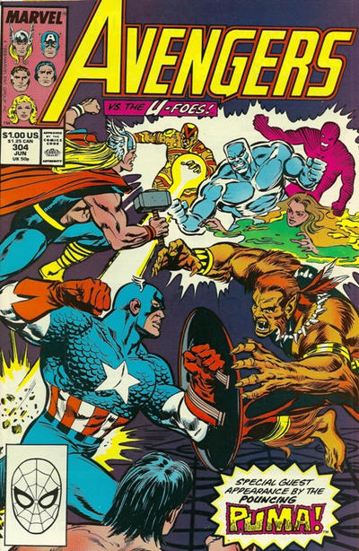 Cover for The Avengers (Marvel, 1963 series) #304 [Direct Edition]