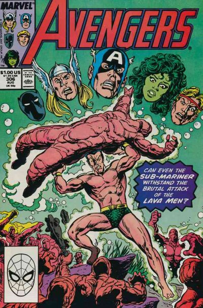Cover for The Avengers (Marvel, 1963 series) #306 [Direct Edition]