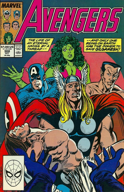Cover for The Avengers (Marvel, 1963 series) #308 [Direct Edition]