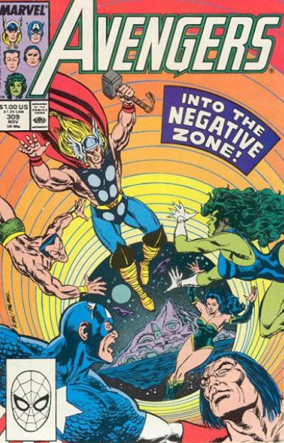 Cover for The Avengers (Marvel, 1963 series) #309 [Direct Edition]
